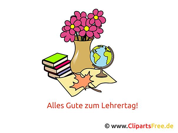 Lehrertag Deutschland Clipart, Karte, Glückwünsche