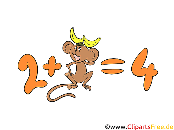 Mathe Unterricht Clipart, Bild, Illustration