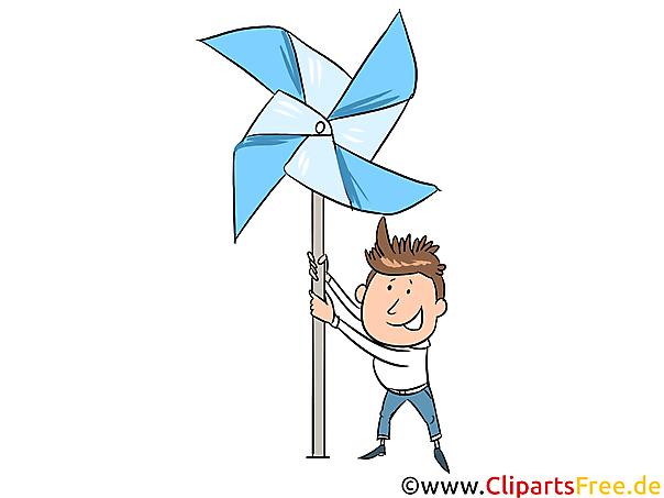 Windrad Clipart, Bild, Illustration