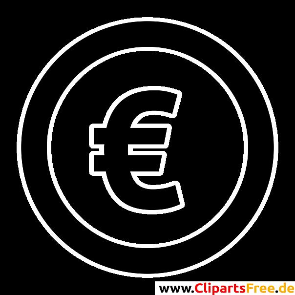 eurozeichen clipart bild grafik illustration schwarz weiss. Black Bedroom Furniture Sets. Home Design Ideas