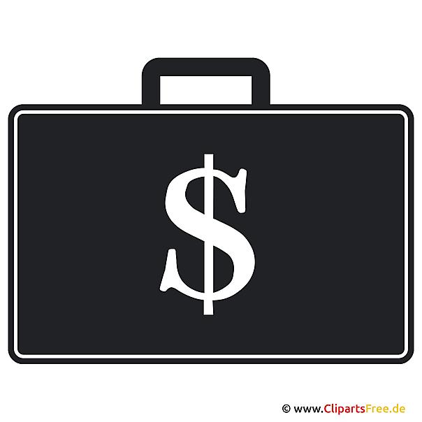 Clipart free - Geld im Koffer