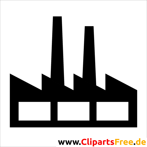 Industriegebiet Symbol, Piktogramm, Bild