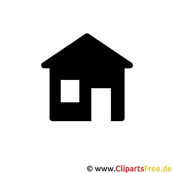 Haus clipart schwarz weiß  Schwarz Weiss Bilder, Cliparts, Cartoons, Grafiken, Illustrationen ...