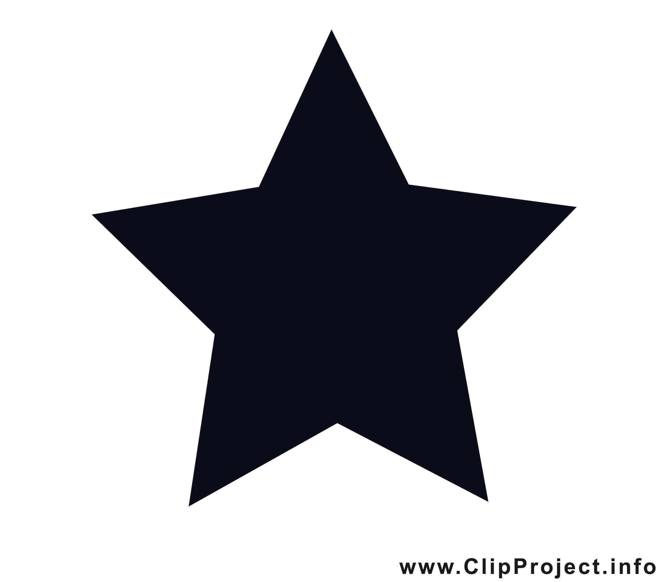 Weihnachten Stern Clipart Schwarz Weiß
