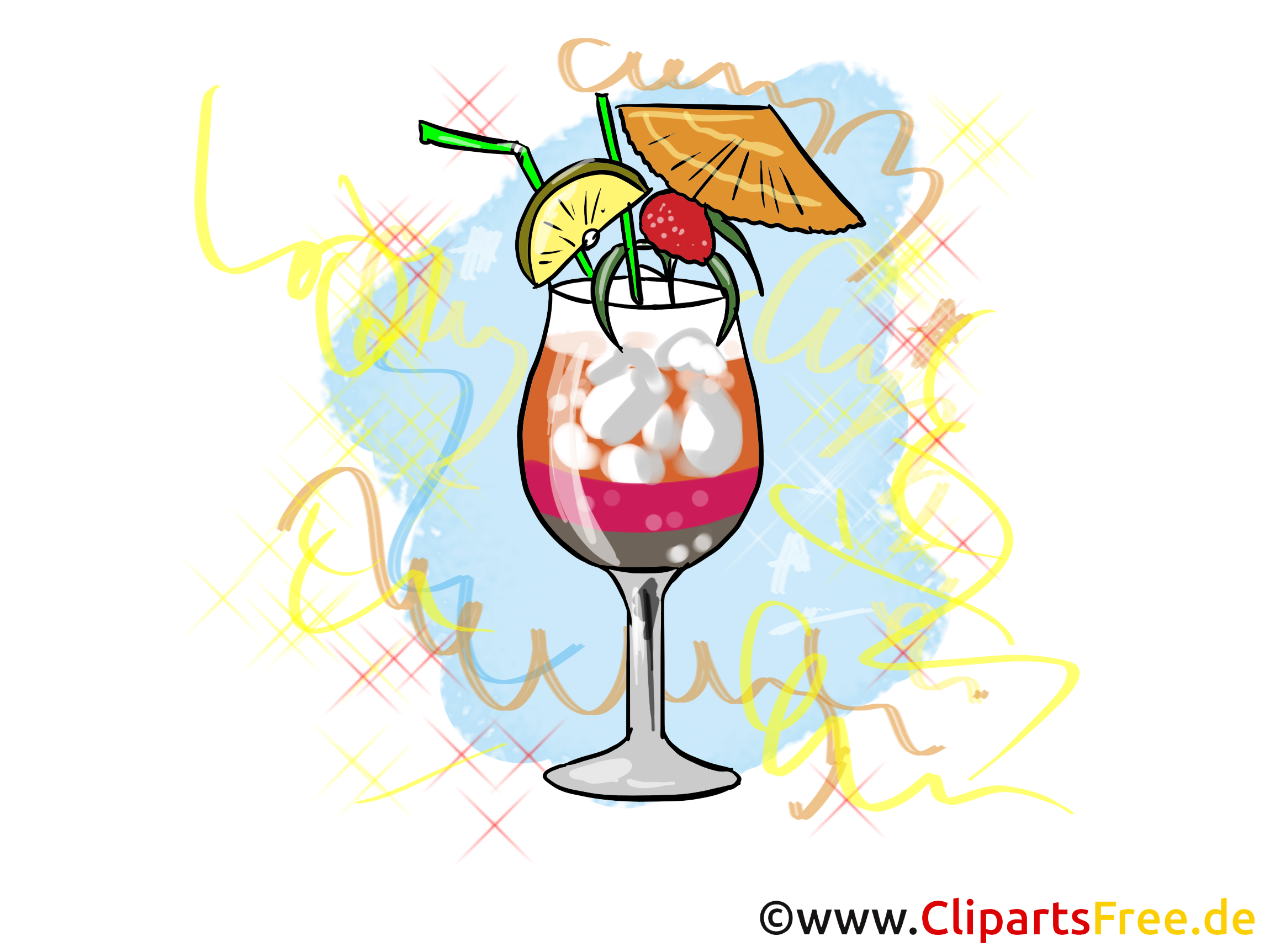 cocktail clipart  bild  illustration fuer silvesterkarten clip art beach house clip art beach scenes free