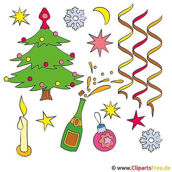 Cliparts Silvester Neujahr Kostenlos