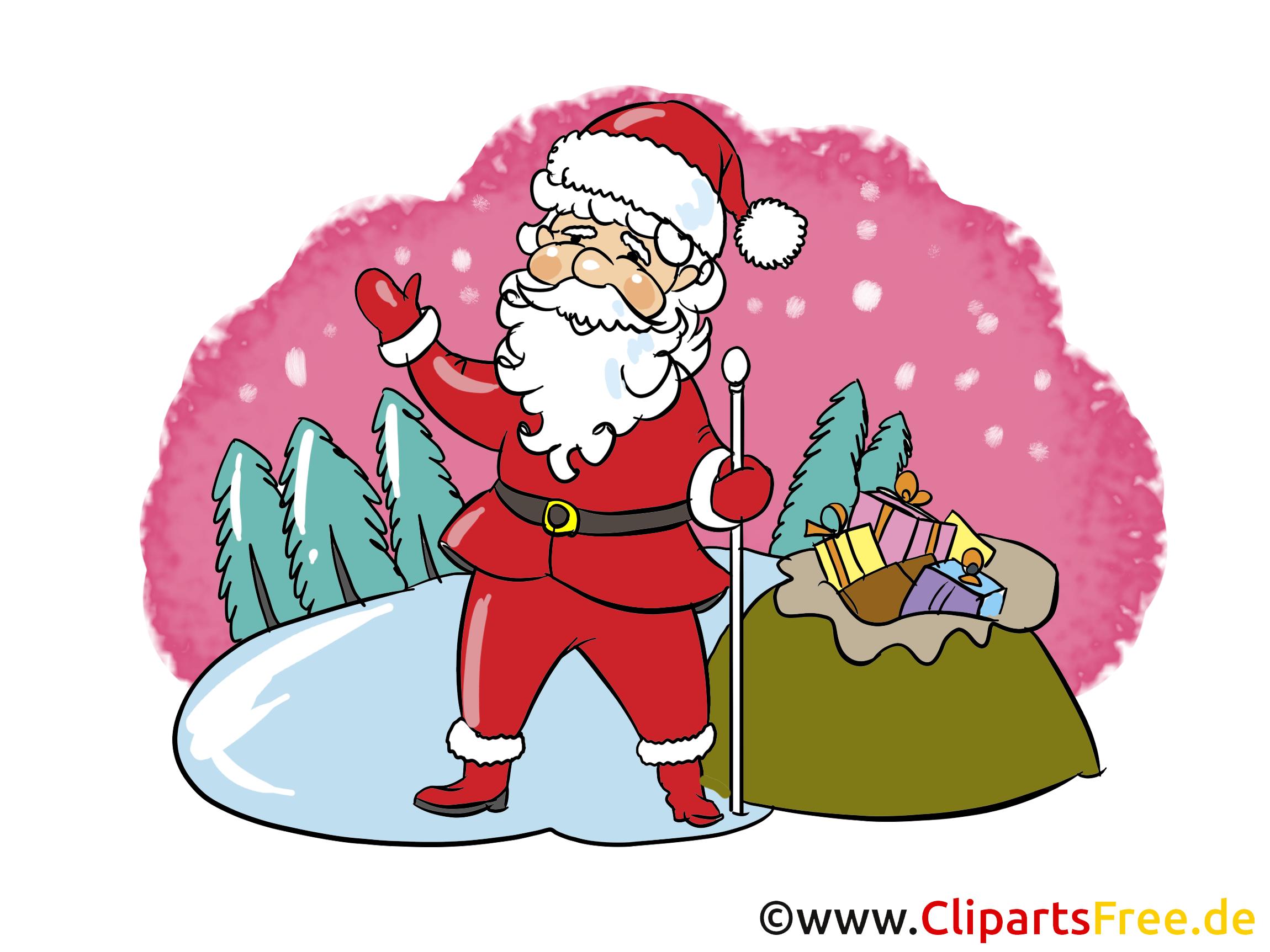 Geschenke zum Silvetser Clipart, Bild, Cartoon gratis