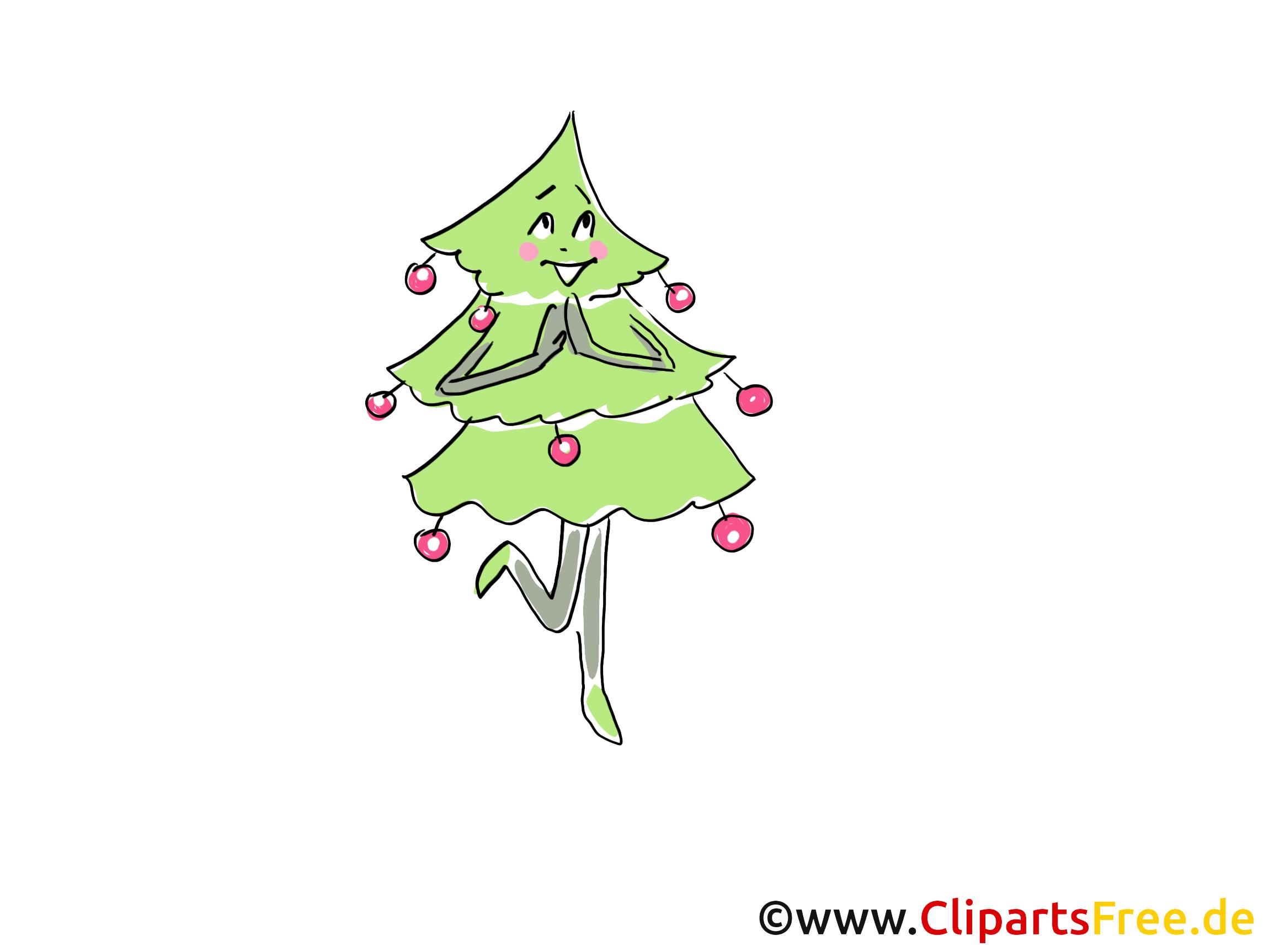 Nieuwjaar clipart dennenboom