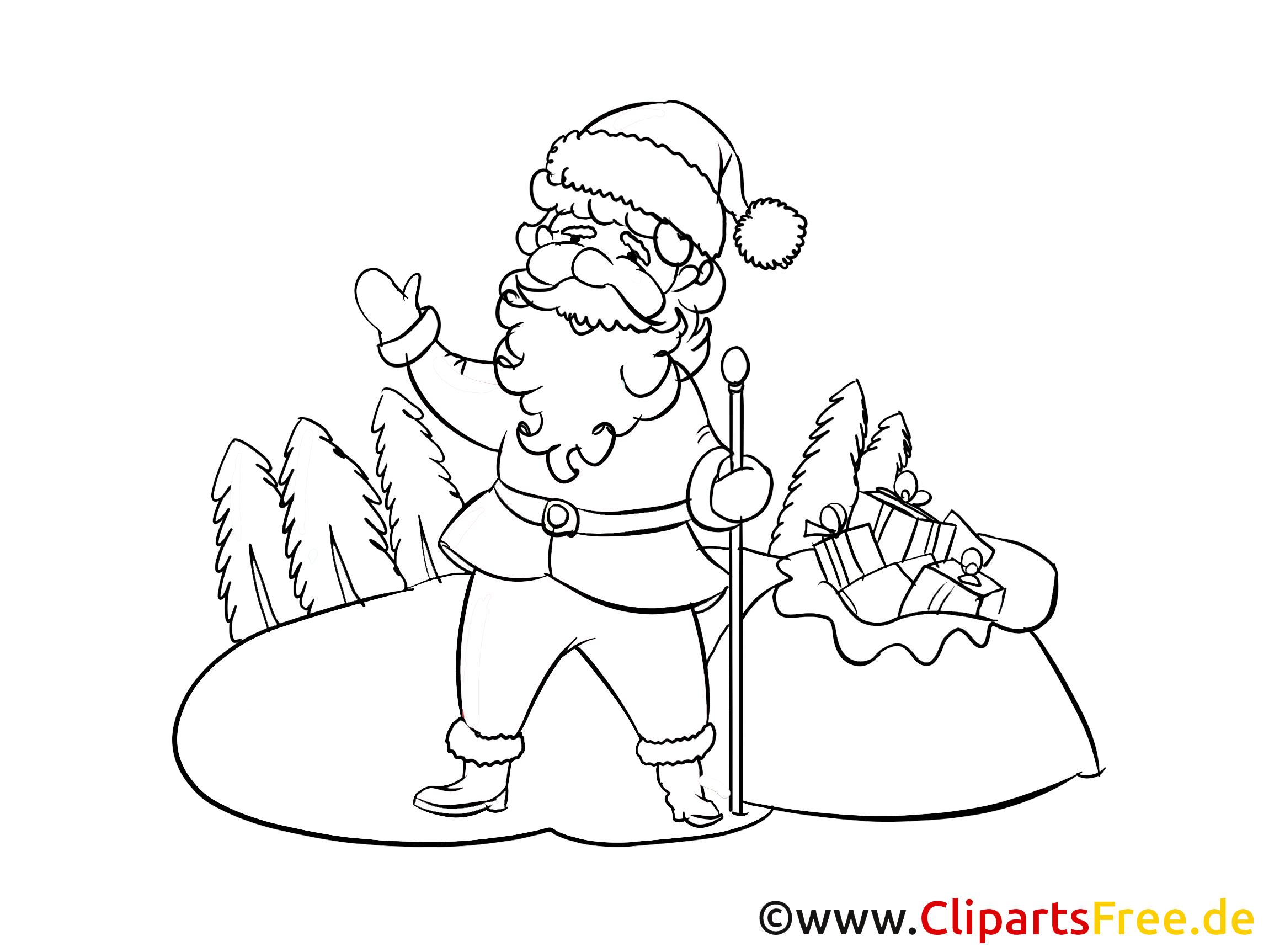 Santa Kleurplaat