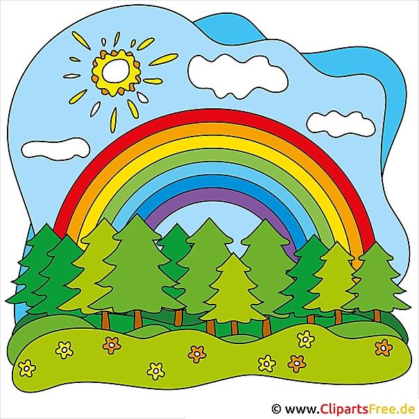 regenbogen clipart kostenlos