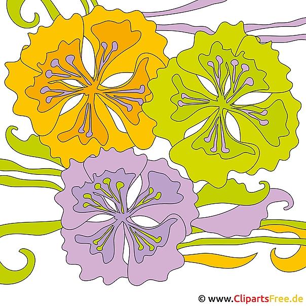 Zomer clipart - bloemen foto's