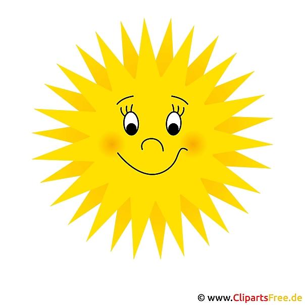 Sonne Clip Art free - Sommer Bild
