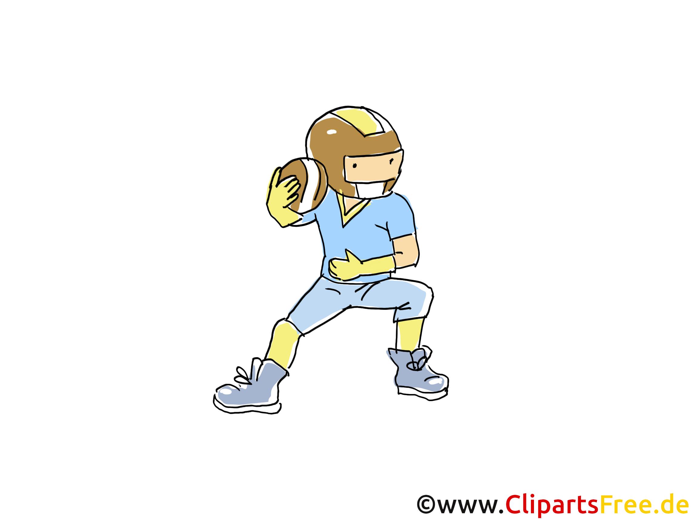 amerikanischer fussball bild sport clipart comic
