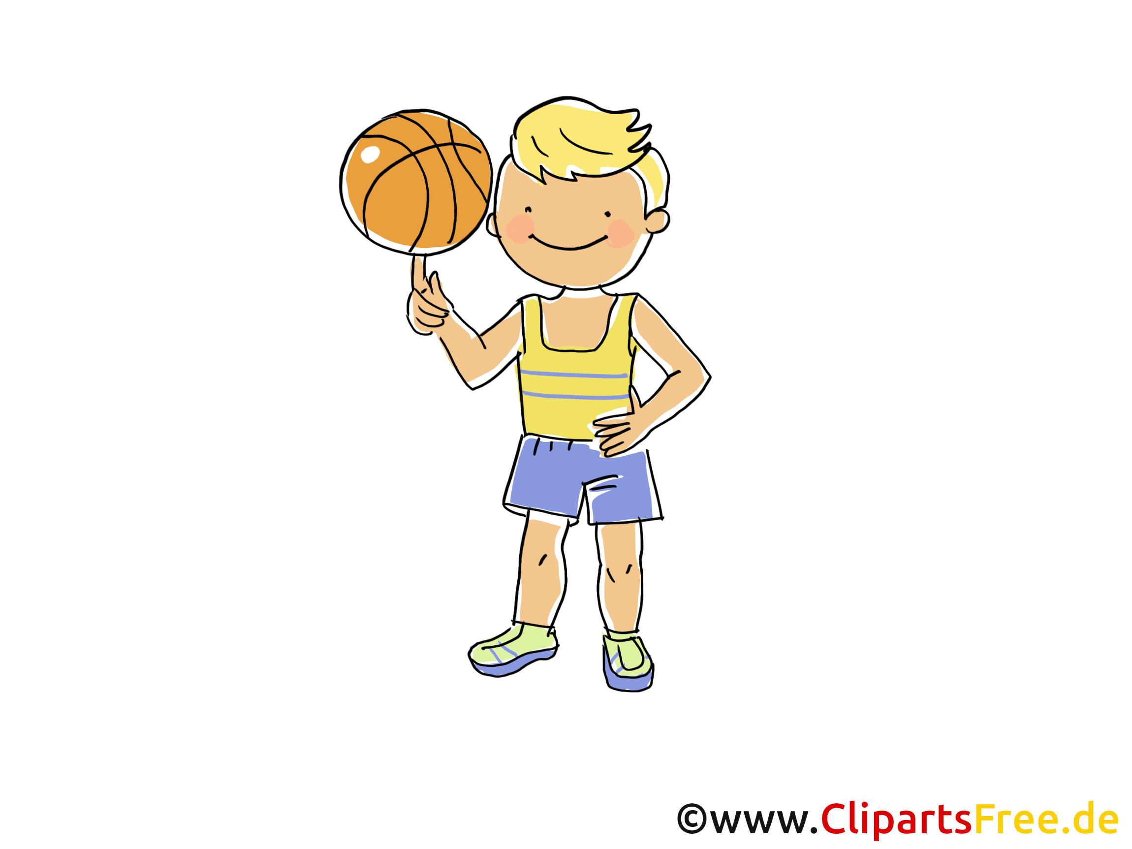 Basketbal Speler Afbeelding, Clip Art Sport, Cartoon, Cartoon, Afbeelding Gratis