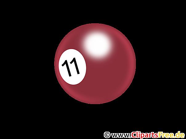 Bilardo topu küçük resim PNG şeffaf