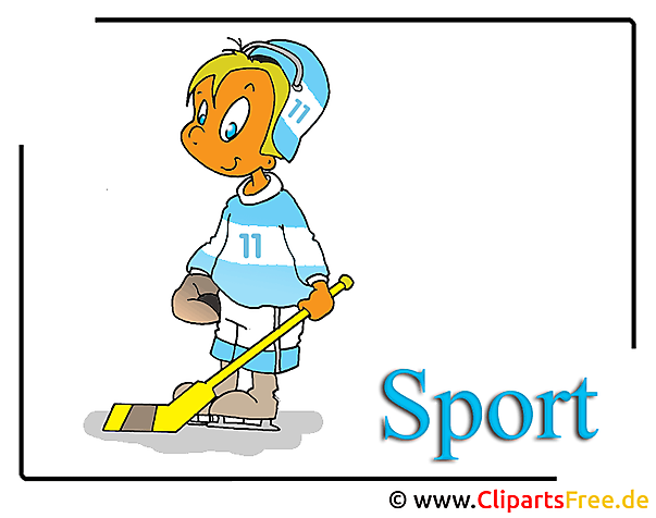 Buz Hokeyi Oyuncu Clipart Karikatür bedava - Buz Hokeyi Clipart