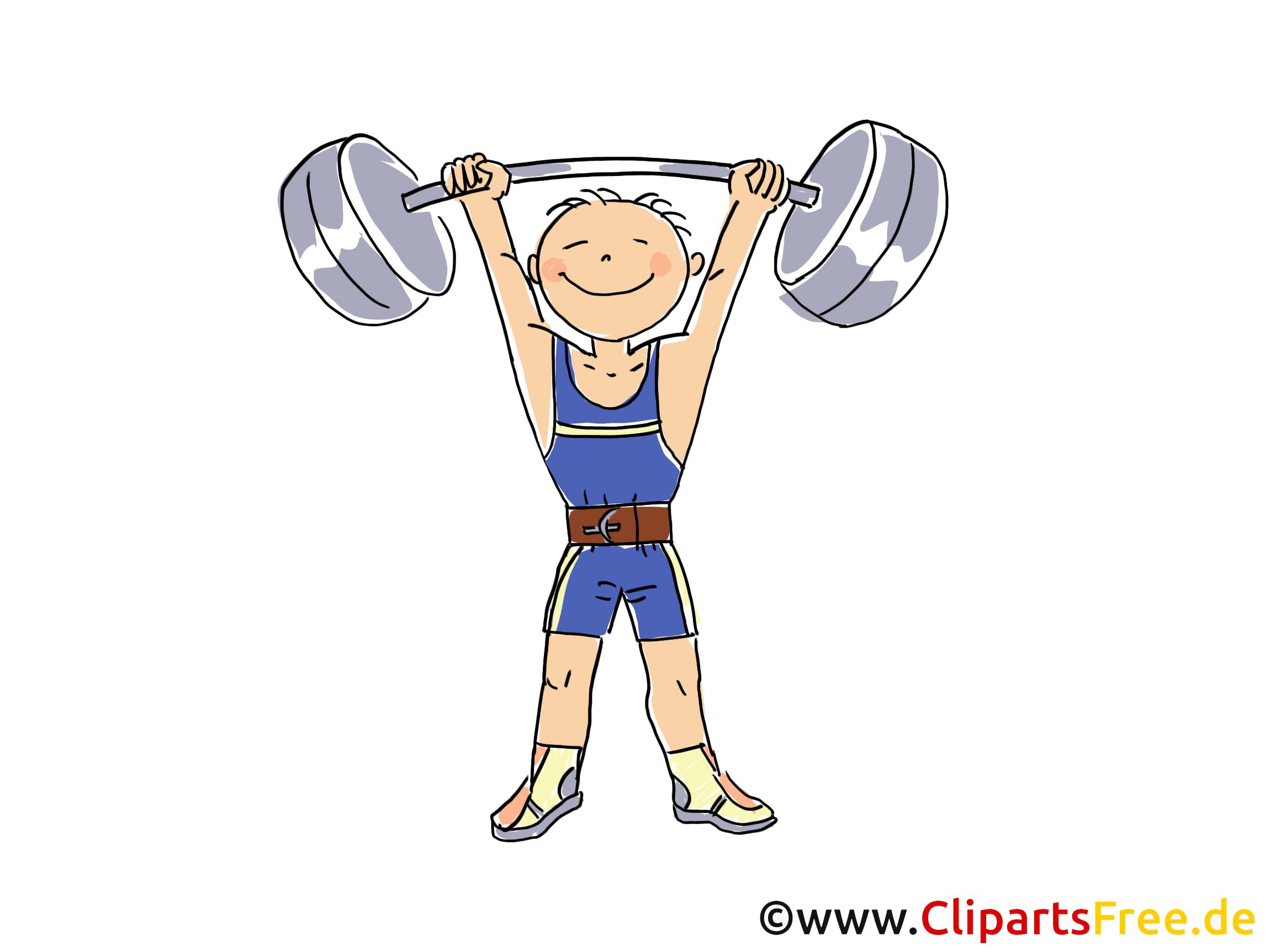 gewichtheben bild  sport cliparts  comic  cartoon  image gratis sport clip arts sport clip art free printable