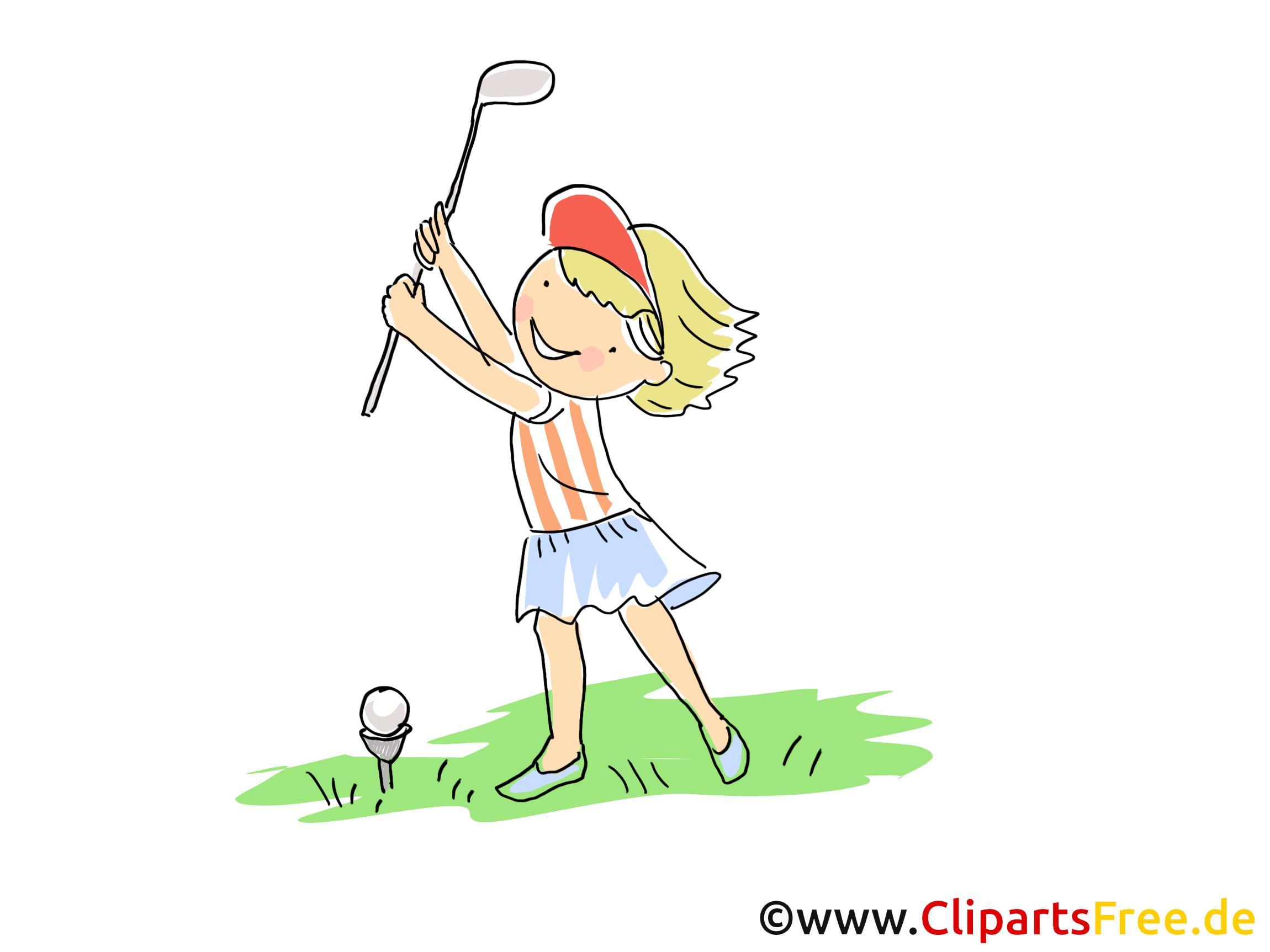Golf Görüntü, Spor Vektör, Çizgi Film, Çizgi Film, Ücretsiz Resim