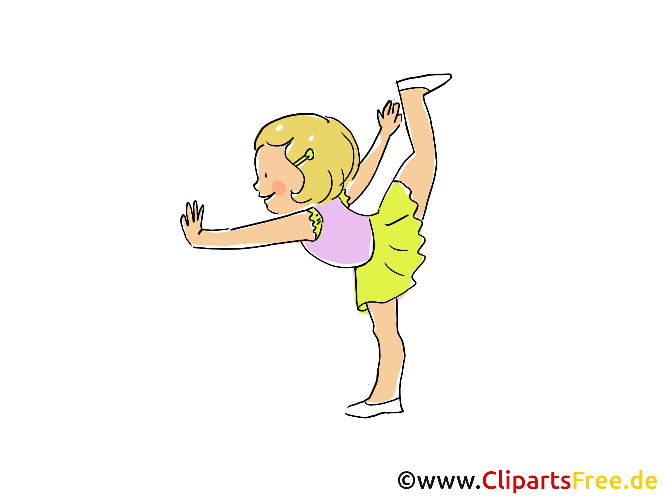 Turnen afbeelding, Clipart, Comic, Cartoon, afbeelding gratis