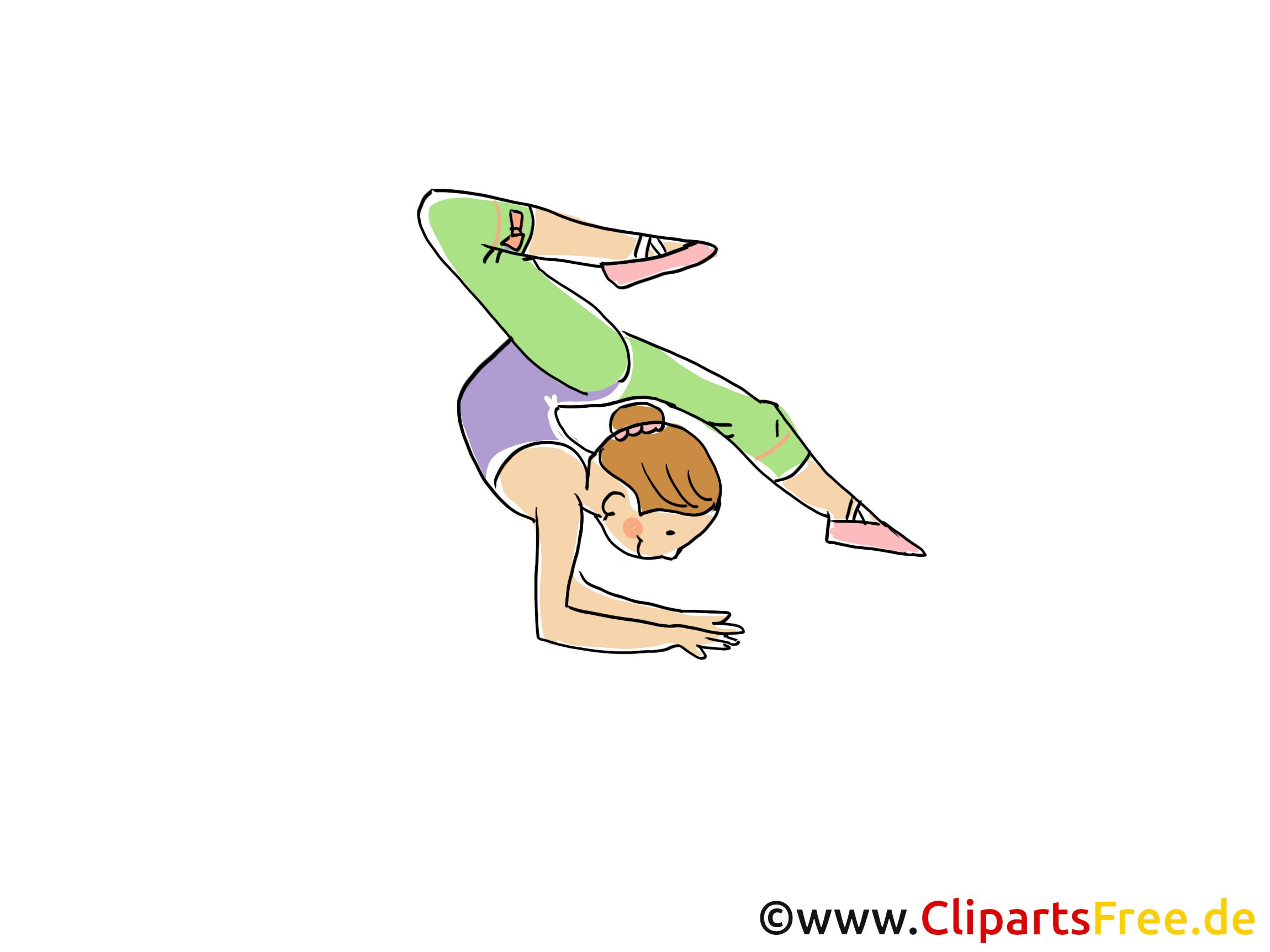 Afbeelding van de gymnast, Sport Cliparts, Strip, Cartoon, Afbeelding gratis