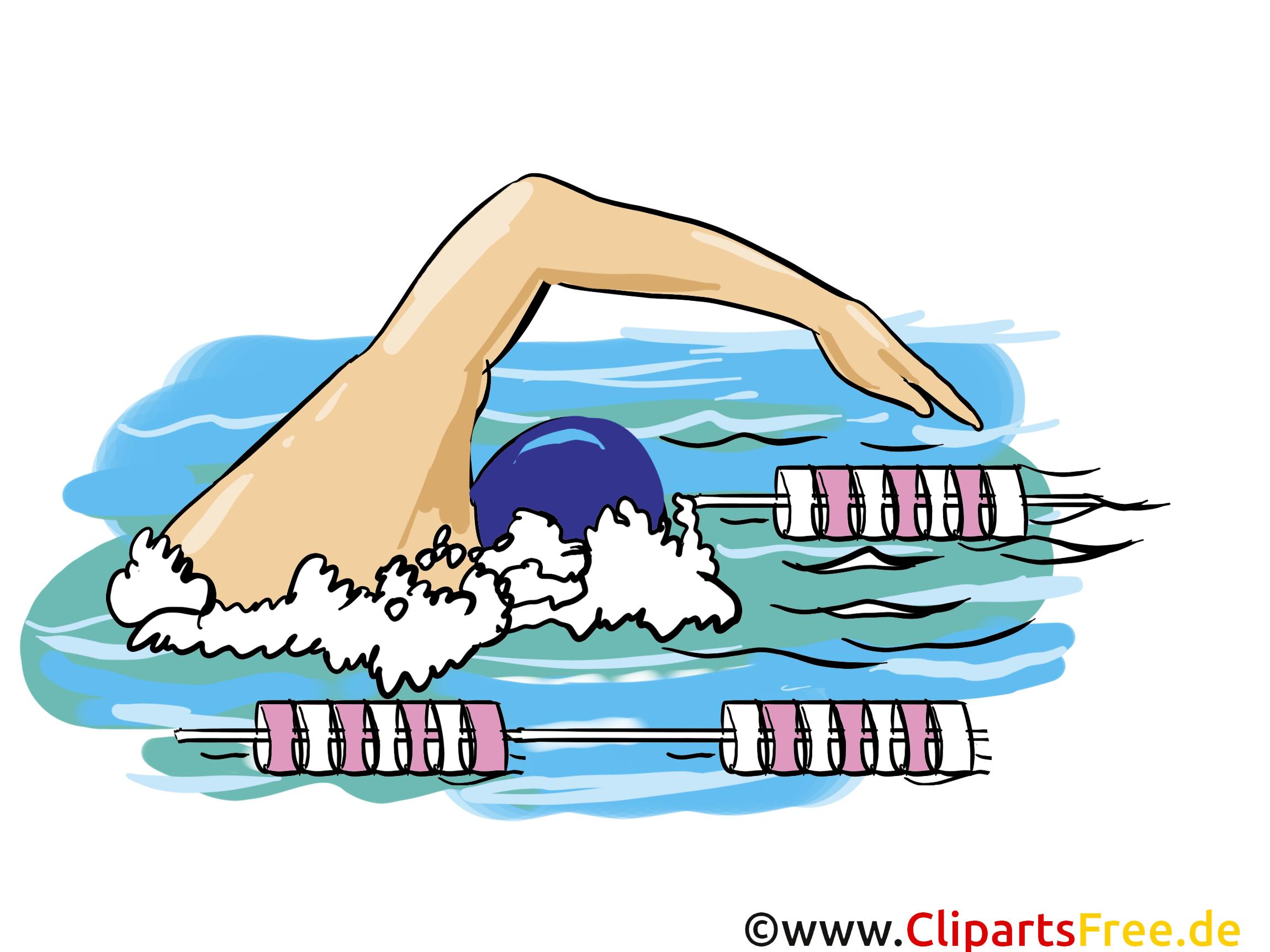 Schwimmen Grafik, Illustration, Bild, Cartoon, Image