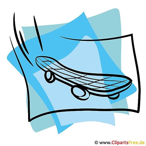 Skateboard Clipart - gratis sportbeelden