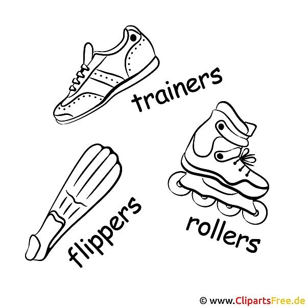 Spor ayakkabılar, astarlar, yüzgeçler - bedava spor resimleri
