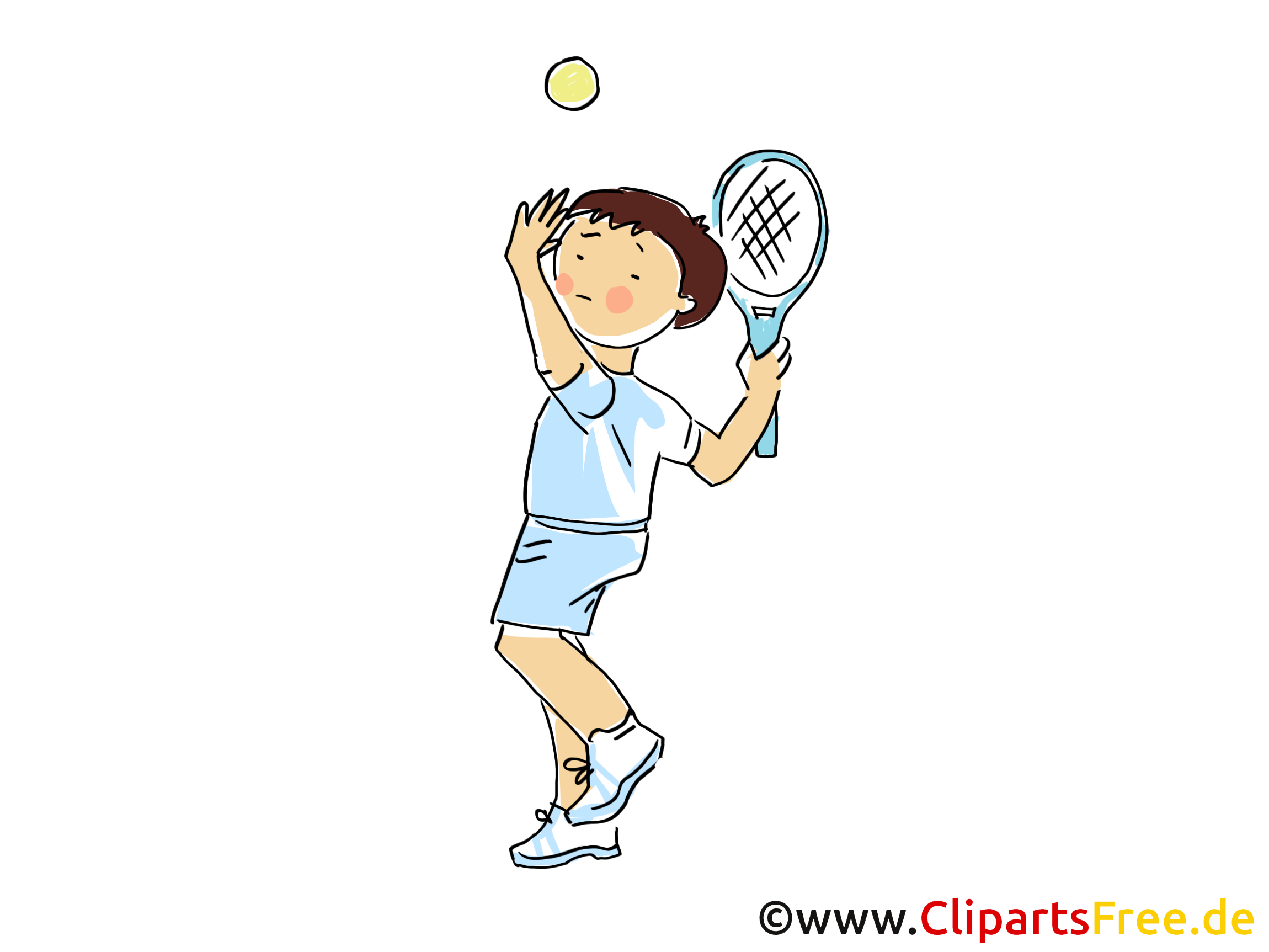 Bildtitel: Tennis Bild, Sport Clipart, Comic, Cartoon, Image gratis