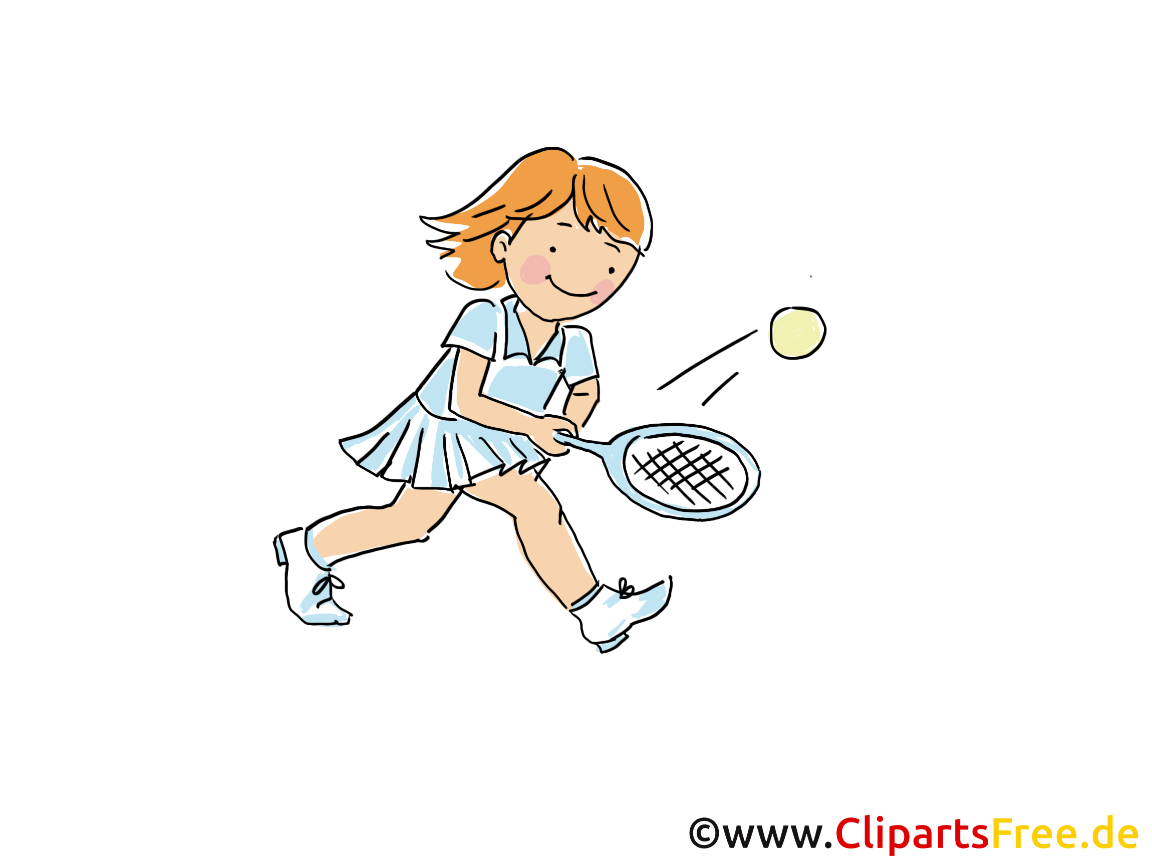 Tennis Training Bild, Sport Cliparts, Comic, Cartoon, Image gratis