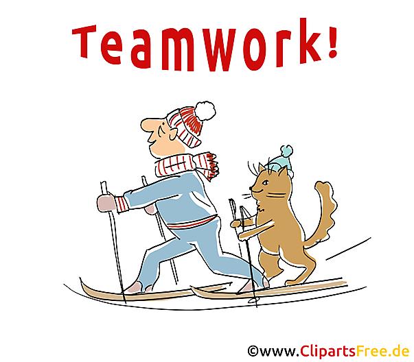 Witziges Bild Teamwork