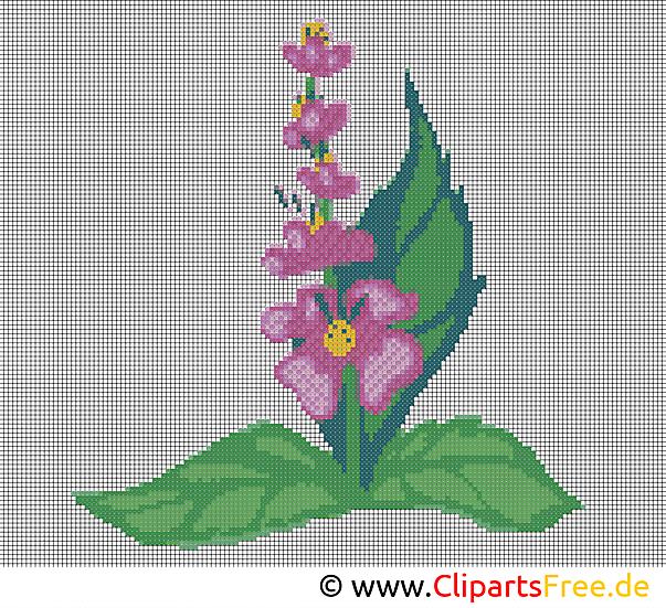 Kostenlose Stickmuster Blumen