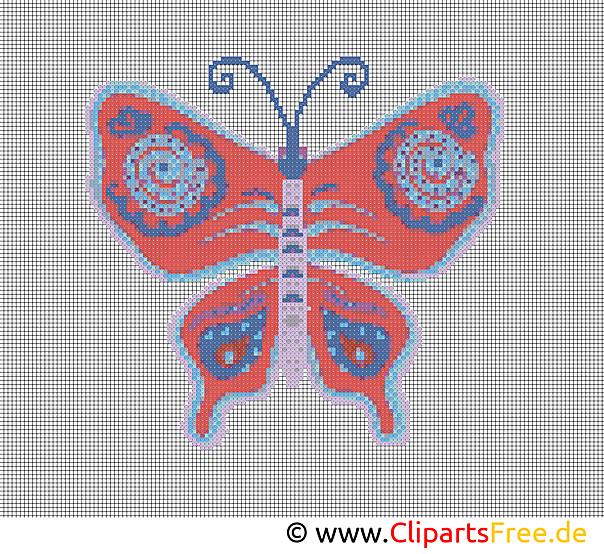 刺繍デザイン無料蝶