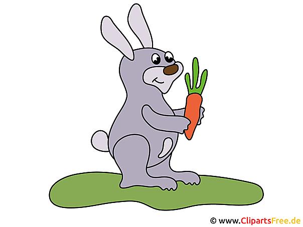 Comic Kaninchen mit Moehre