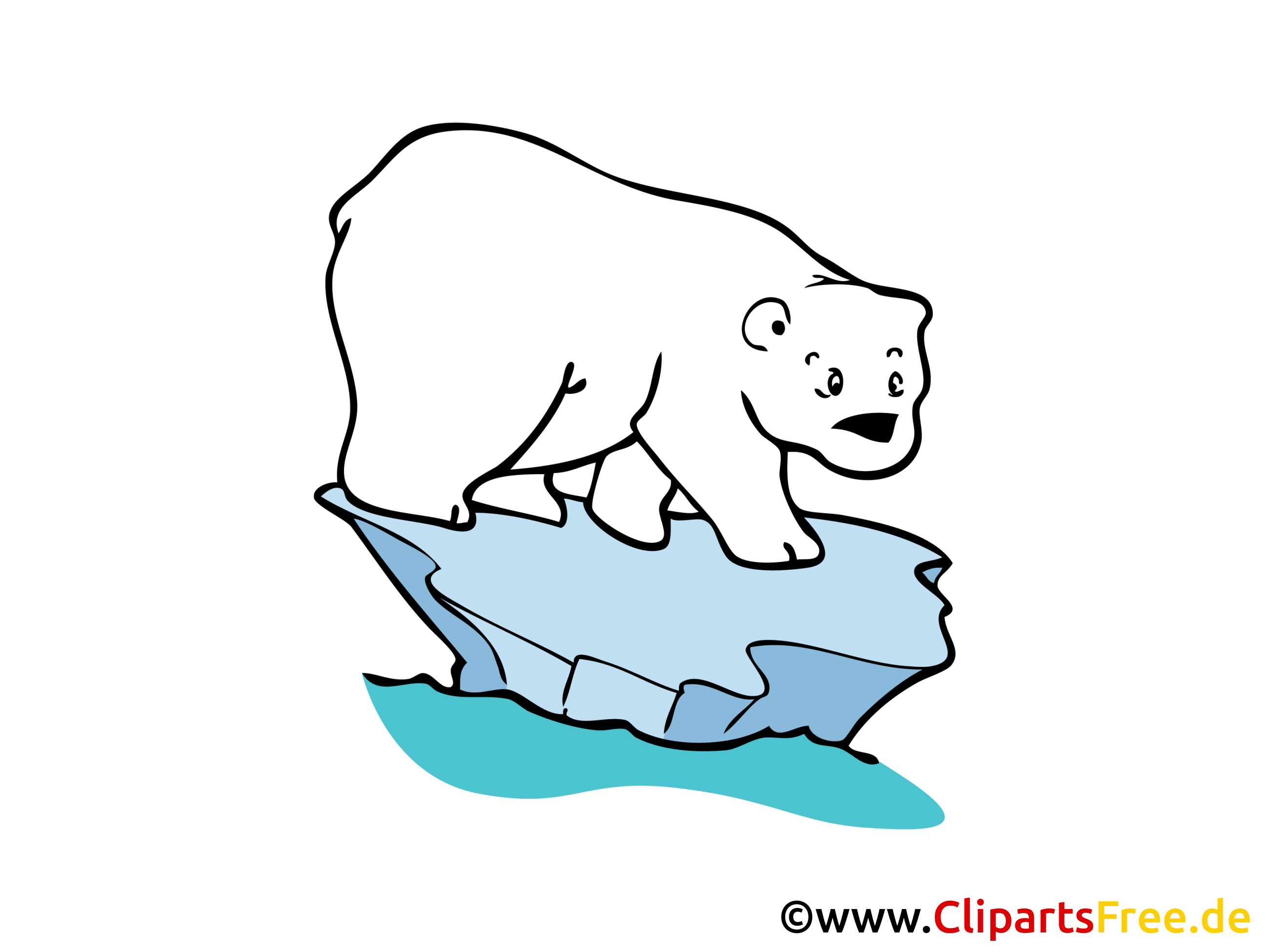 Eisbaer Bild, Clipart, Zeichnung in Hochaufloesung