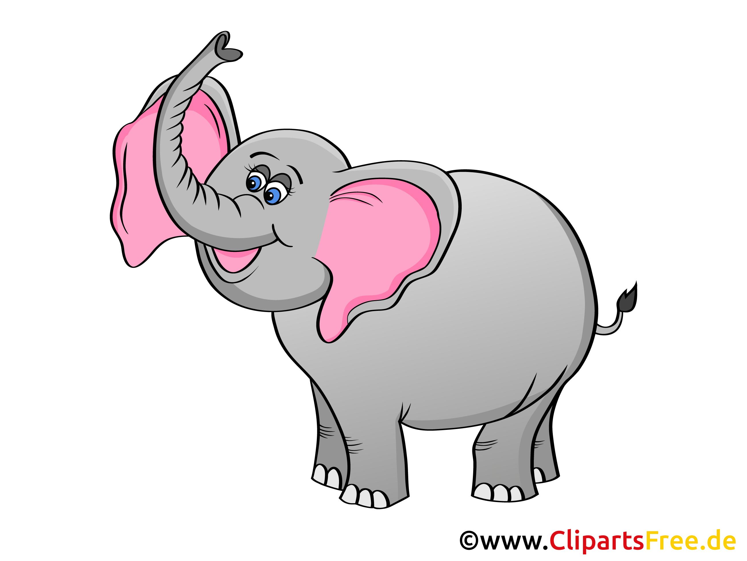 Elefant Clip Art, Grafik, Illustration, Bild gratis