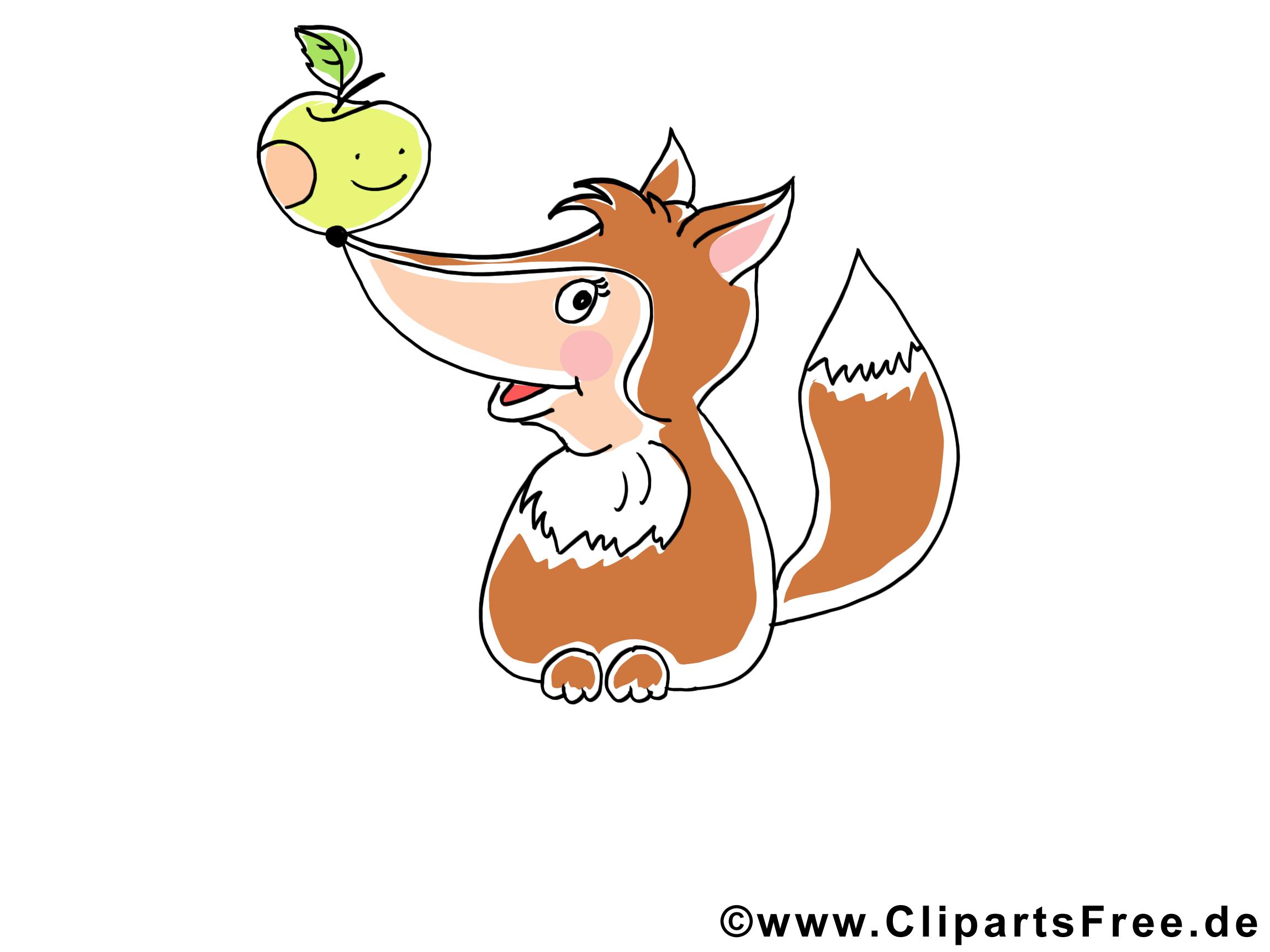 Fuchs Clipart - Süße Cliparts