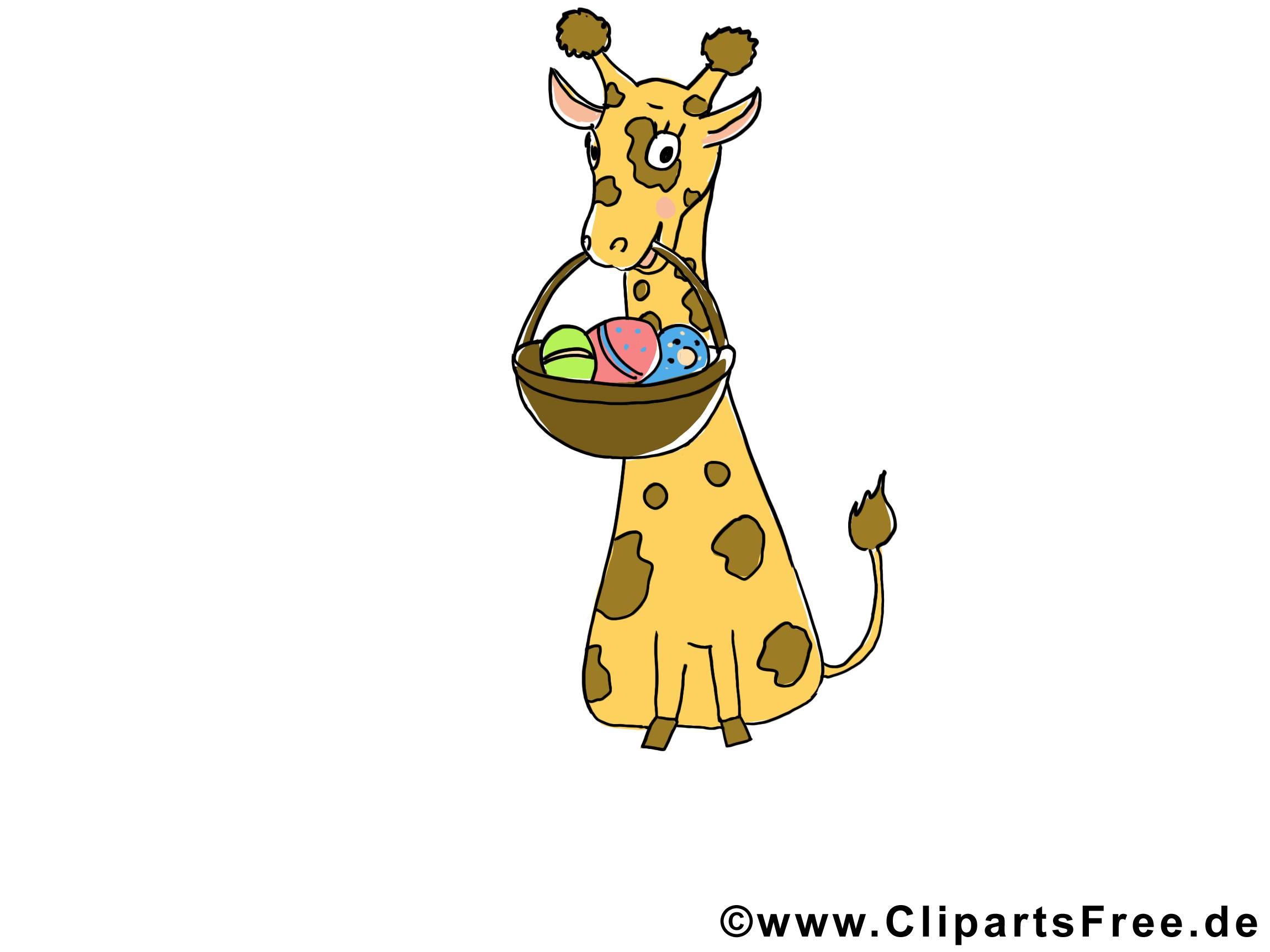 Giraffe Clipart Tiere lustig