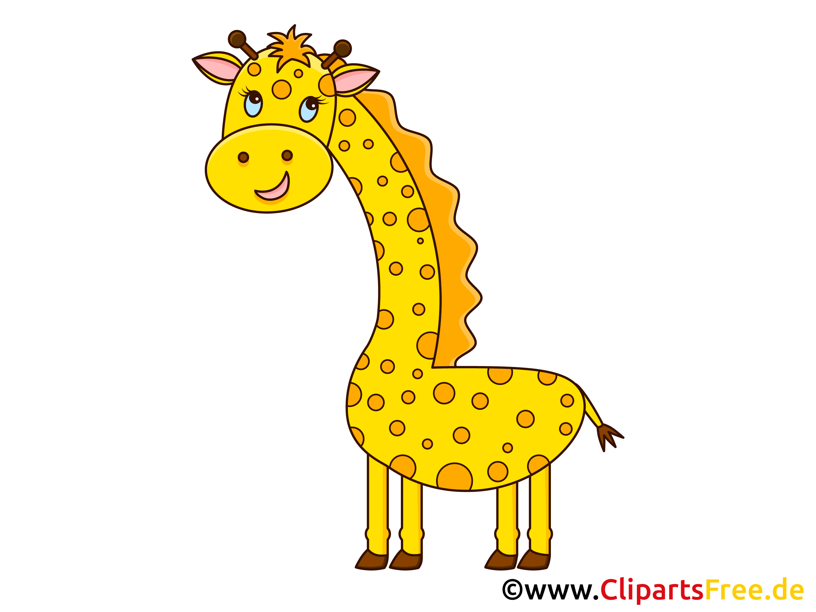 Giraffe Hund Clipart, Grafik, Illustration, Bild gratis