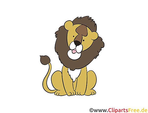 Lion clipart, illustratie, foto gratis