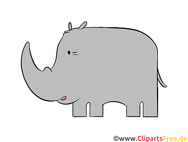 Rhino clipart, illustratie, afbeelding gratis