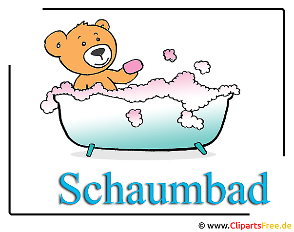 Schaumbad Cartoon Clipart Bild