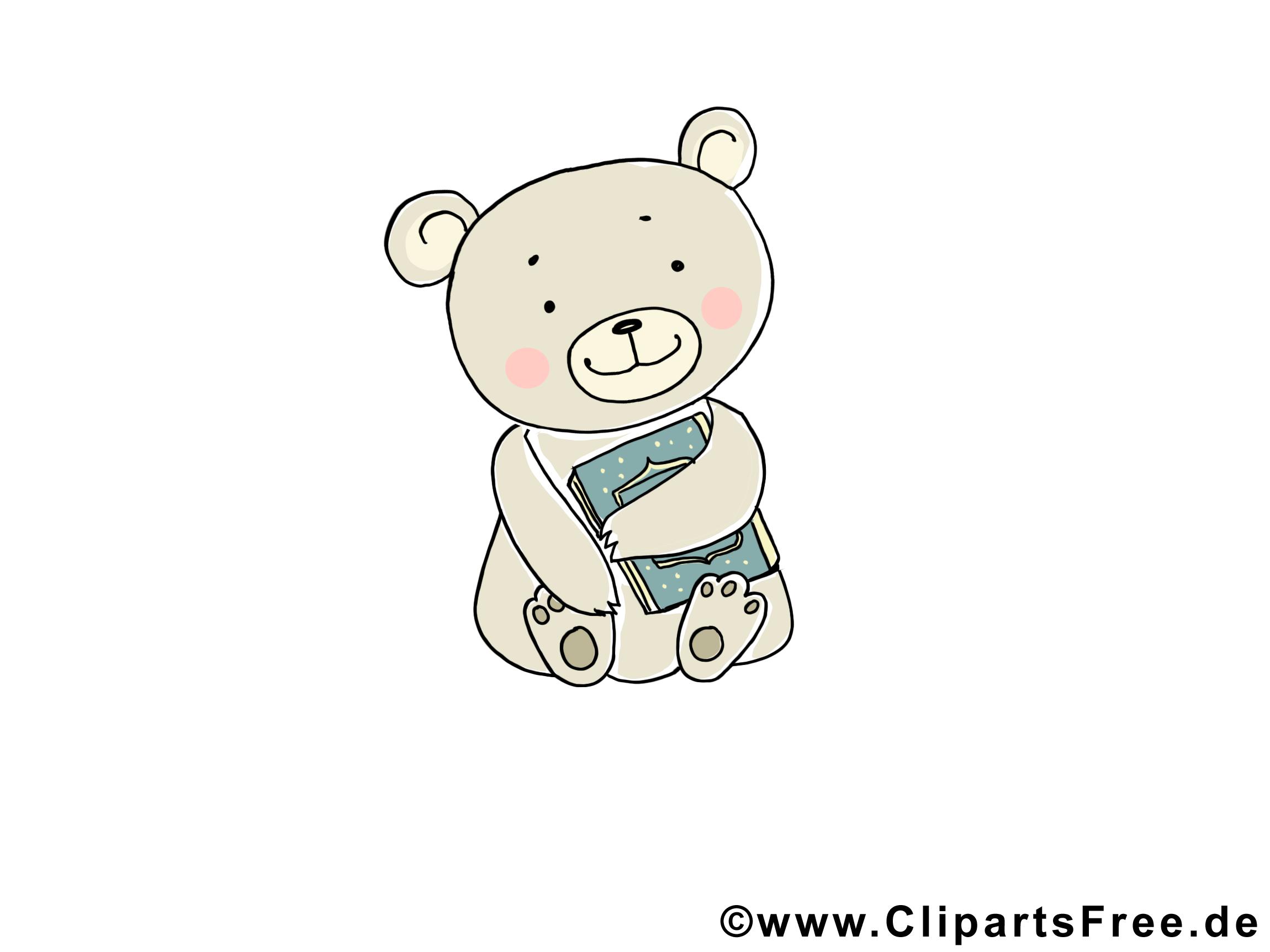 Illustratie gratis schattige dieren, teddybeer