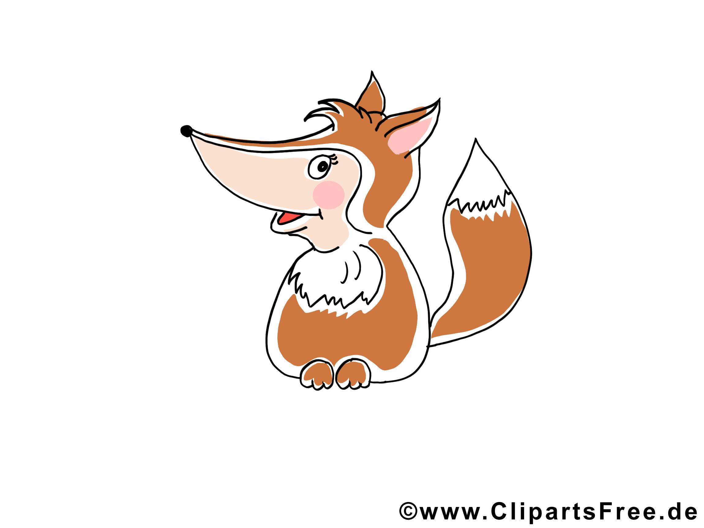 Tier Clipart Fuchs