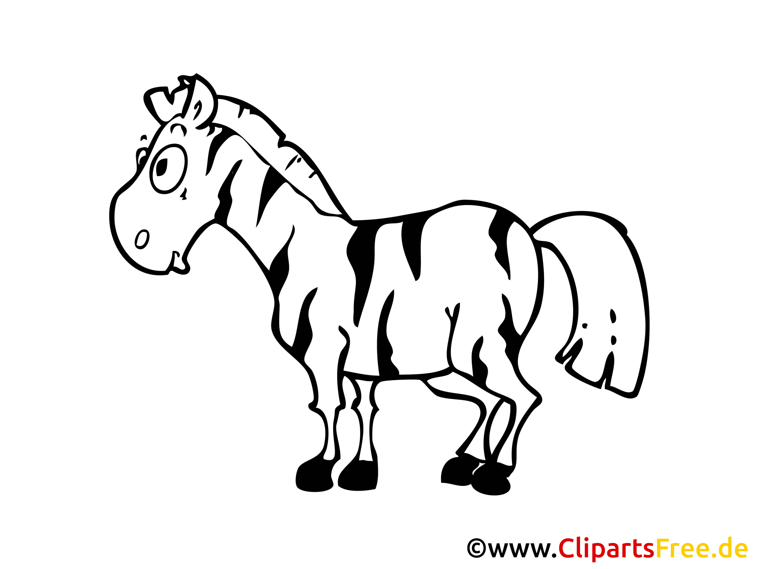 Zebra Bild, Clipart, Illustration, Comic, Cartoon gratis