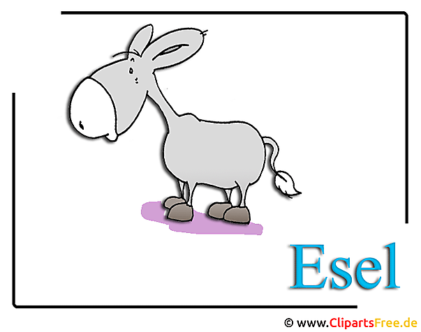 Zoo Clipart Cartoon Esel