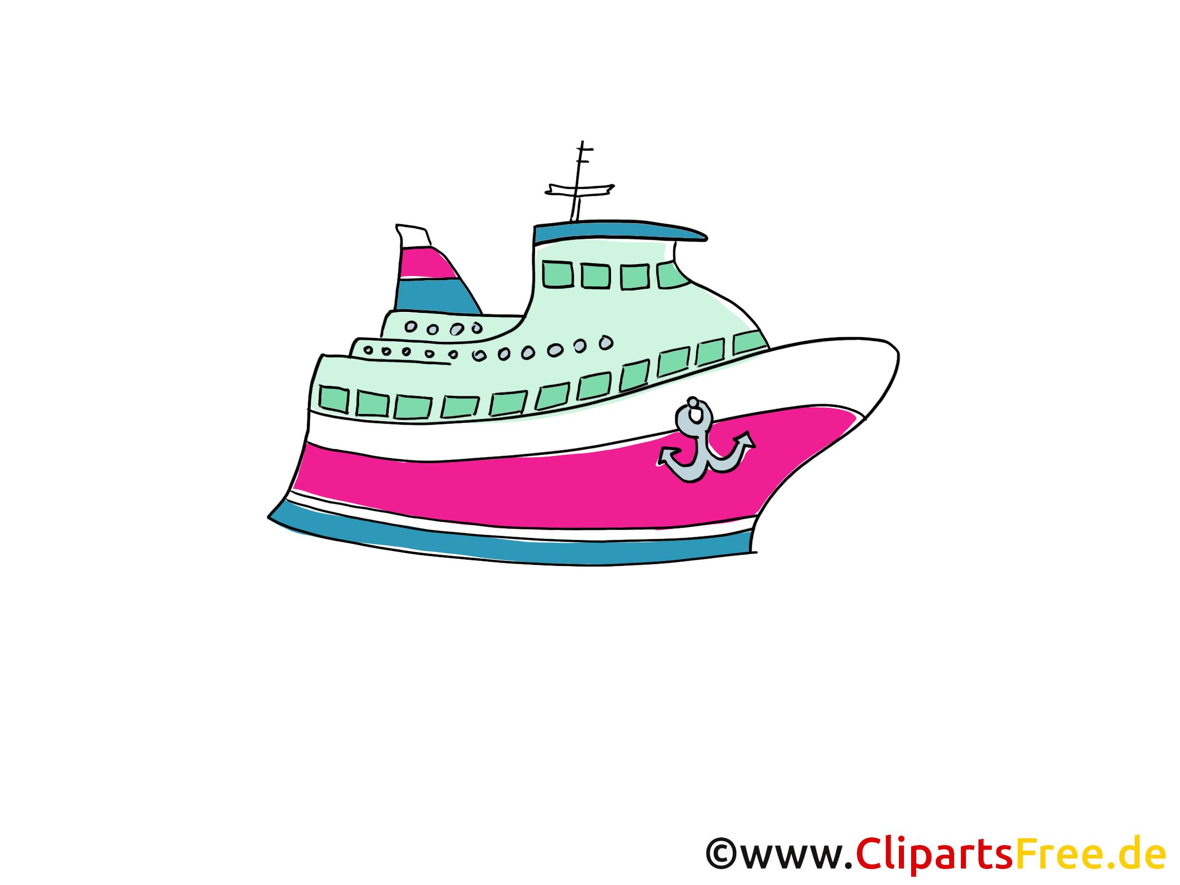 Cruise ship clip art, image, comic, cartoon, pic free