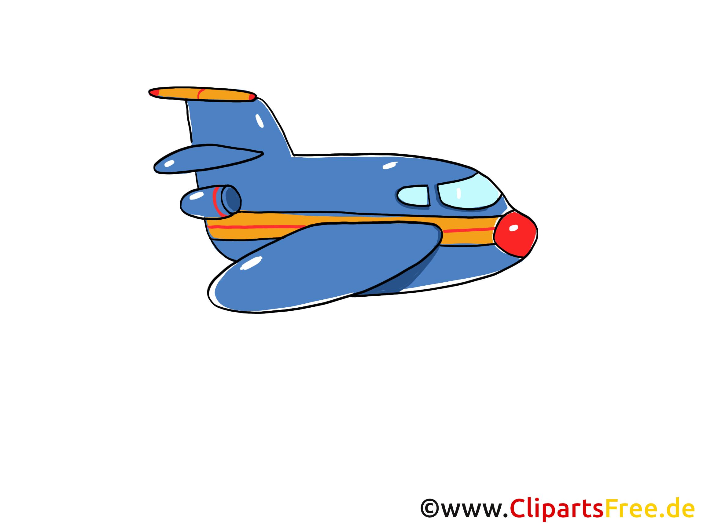 Duesenflugzeug, Duesenjet und Jet Clipart, Bild, Cartoon, Comic, Grafik