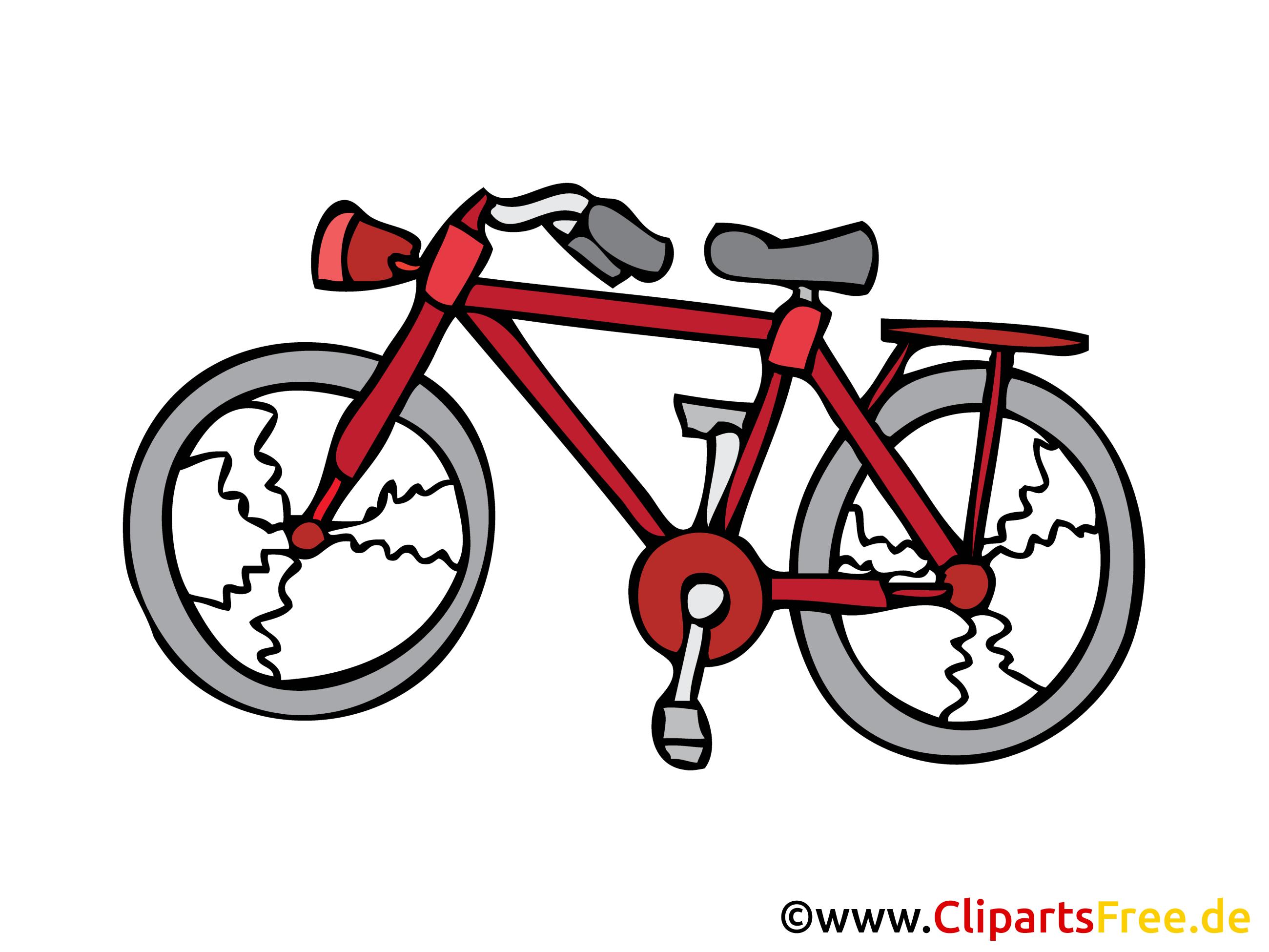 Fahrrad Bild, Clipart, Illustration, Grafik, Zeichnung kostenlos