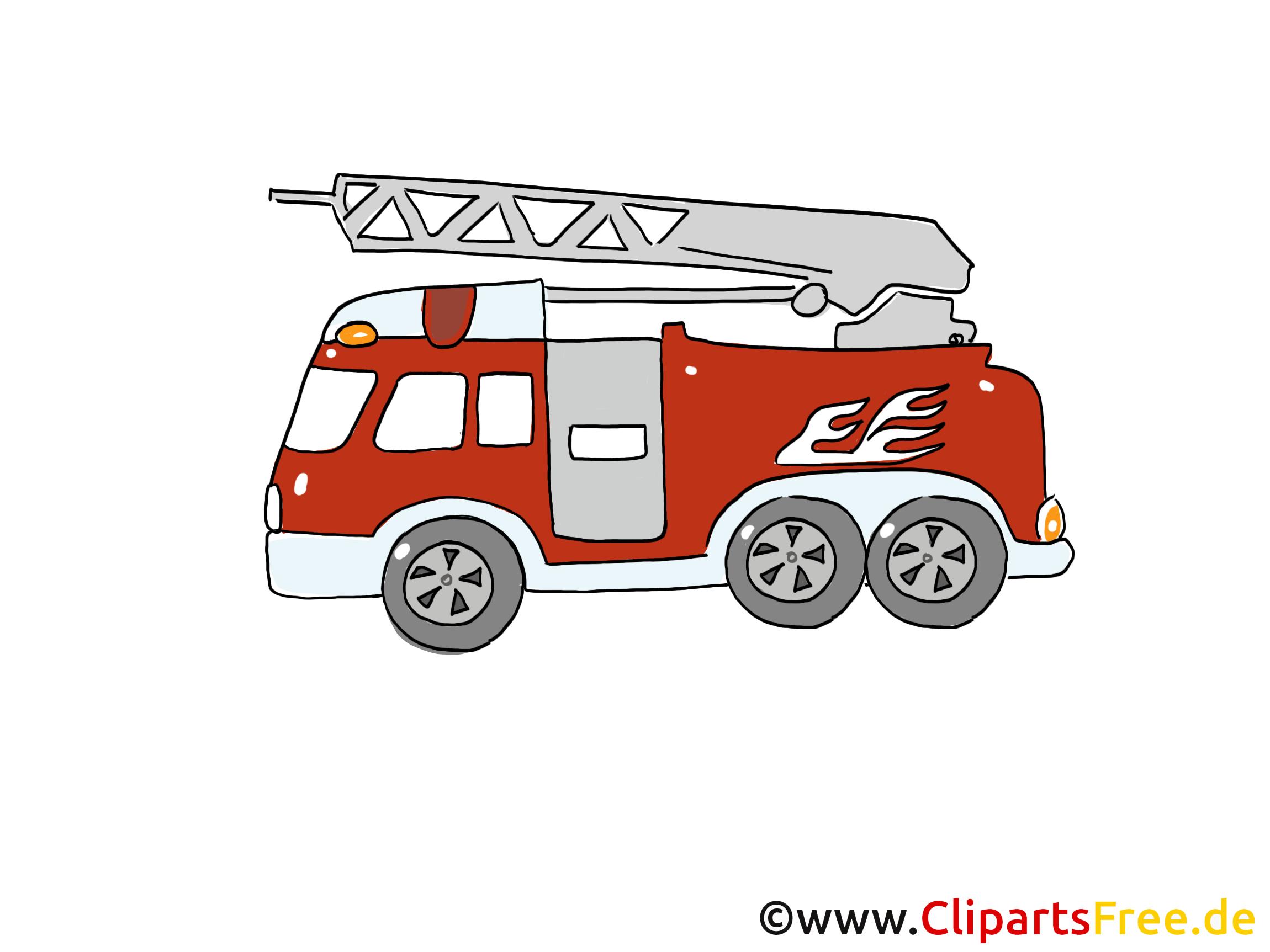 Feuerwehrauto Einsatzfahrzeug Bild, Cartoon, Clipart
