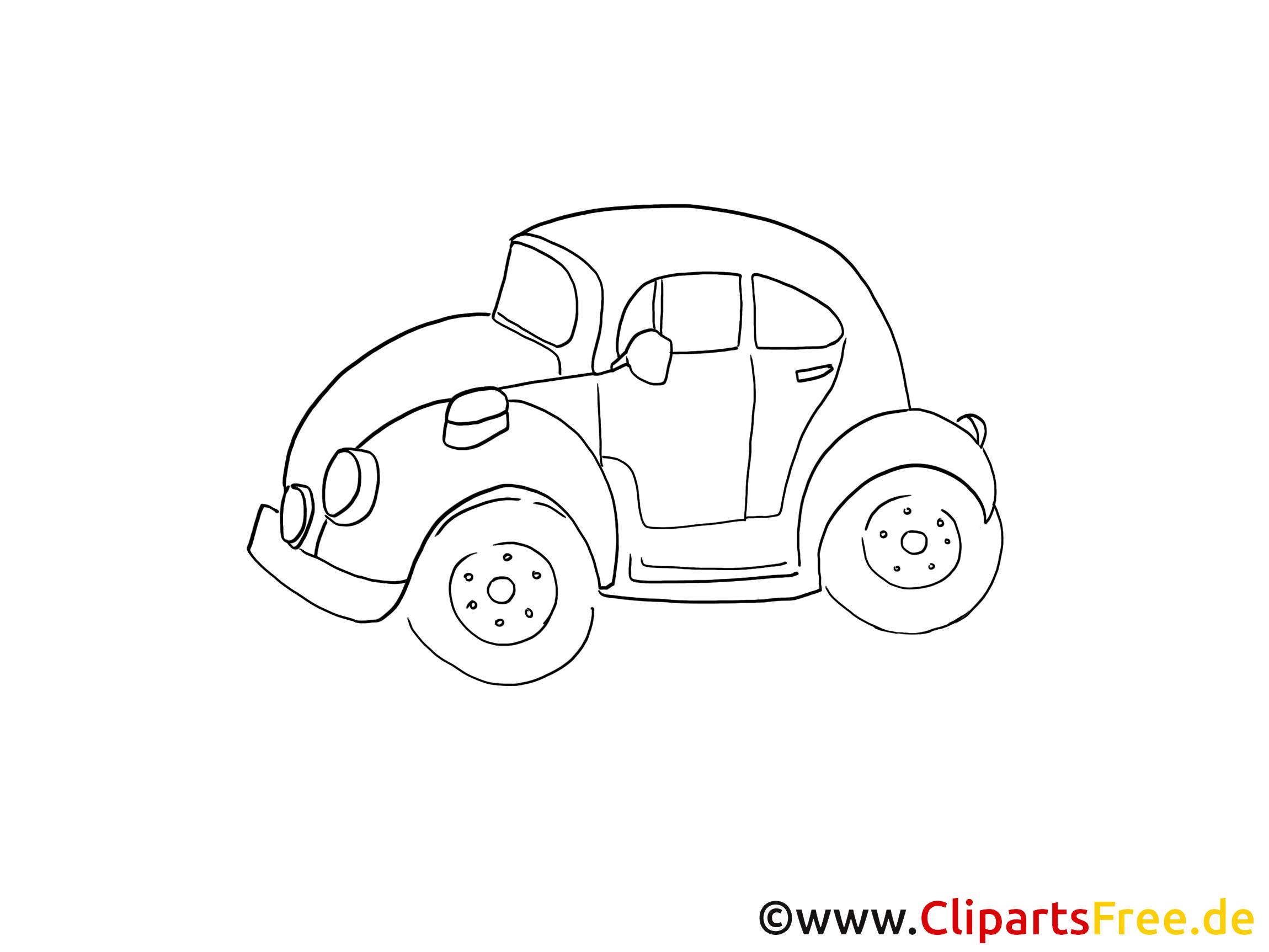 Auto Clipart Schwarz Weiß